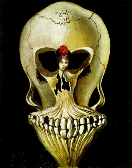 Salvador Dali - Ballerina In A Death's Head