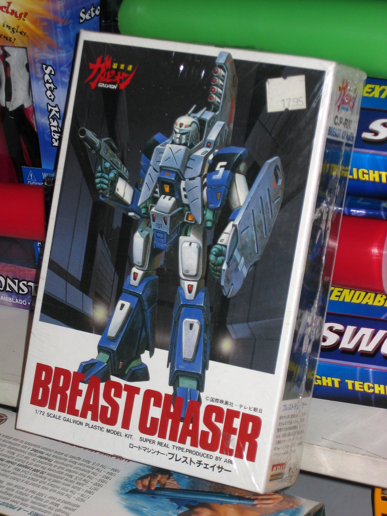 Bootleg Transformer toy called Breast Chaser