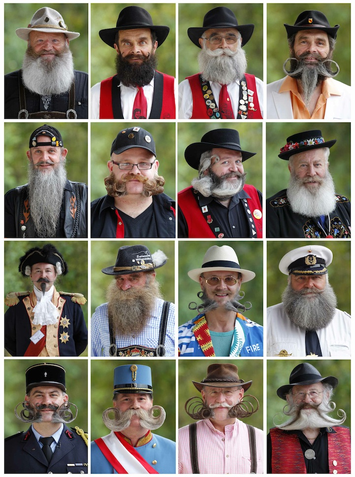 Entrants of the European Moustache Championships