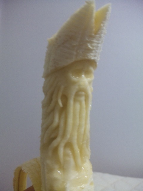 Davey Jones carved out of a banana