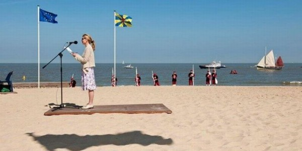 Accidental optical illusion of a flying carpet