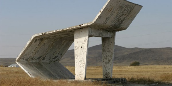 Experimental Soviet bus shelter