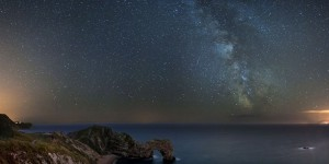 Dorset coast beneath the Milky Way