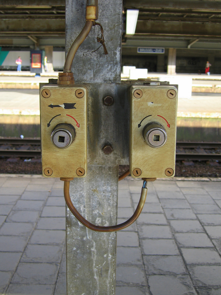 Station junction boxes that look like a female face