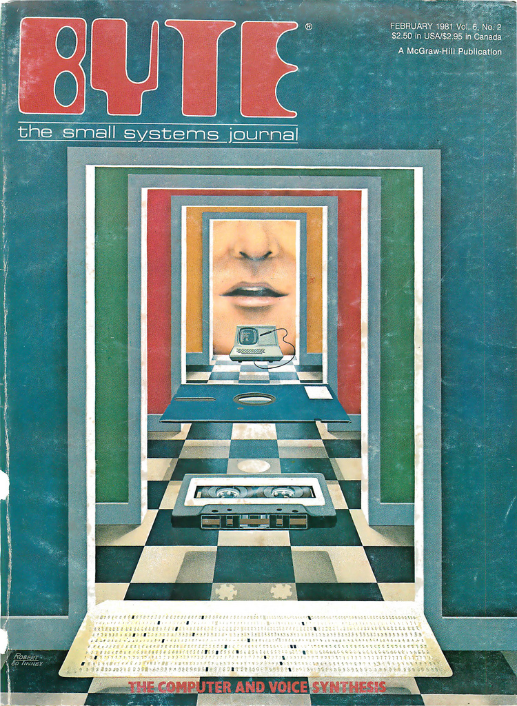 Byte Magazine cover from February 1981