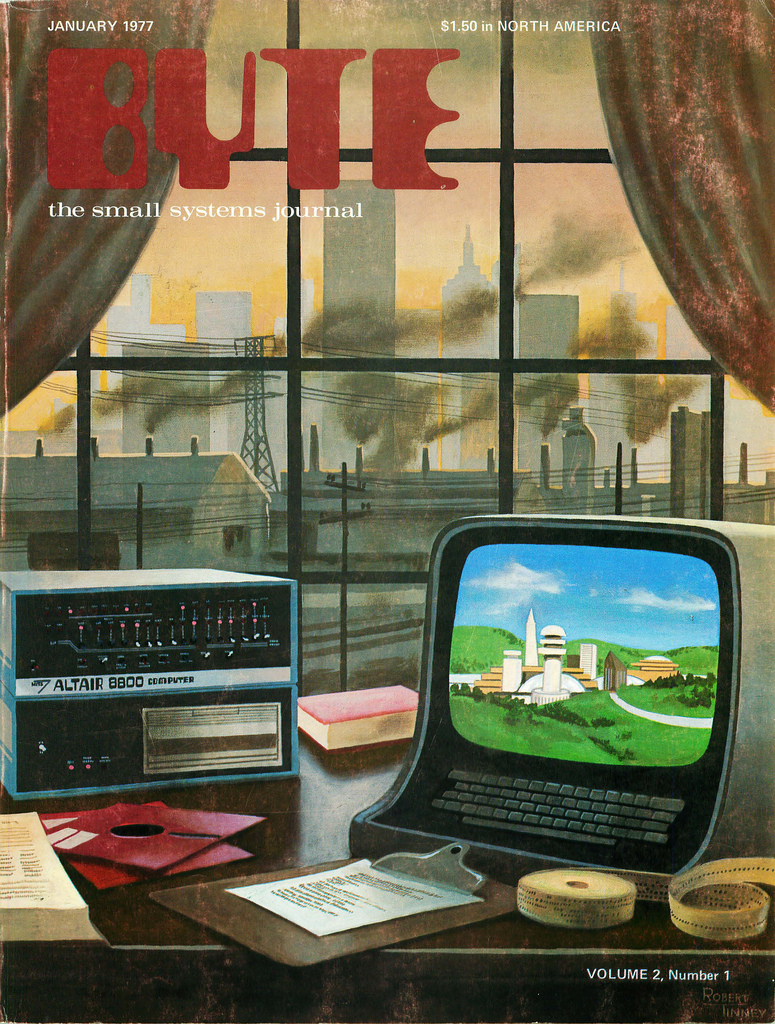 Byte Magazine cover from January 1977