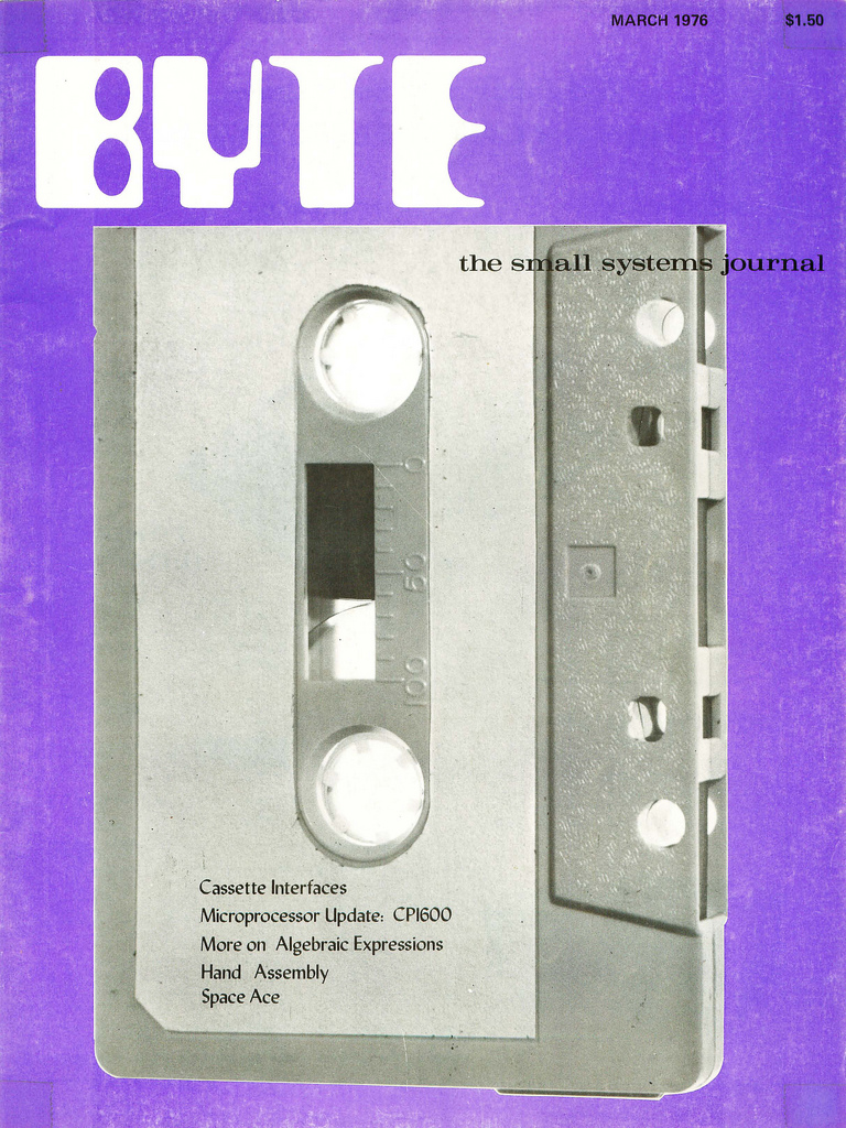 Byte Magazine cover from March 1976