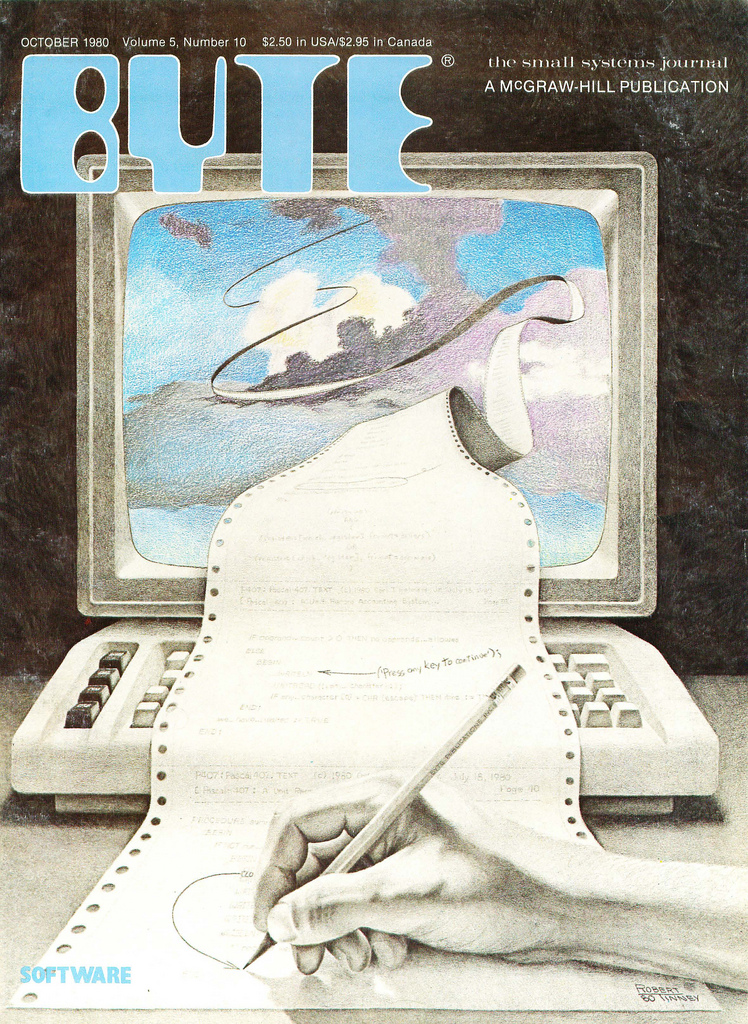 Byte Magazine cover from October 1980