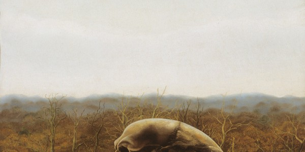 Painting of a skull by Edgar Fernhout