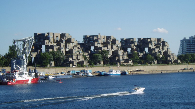 Habitat 67 from the docks