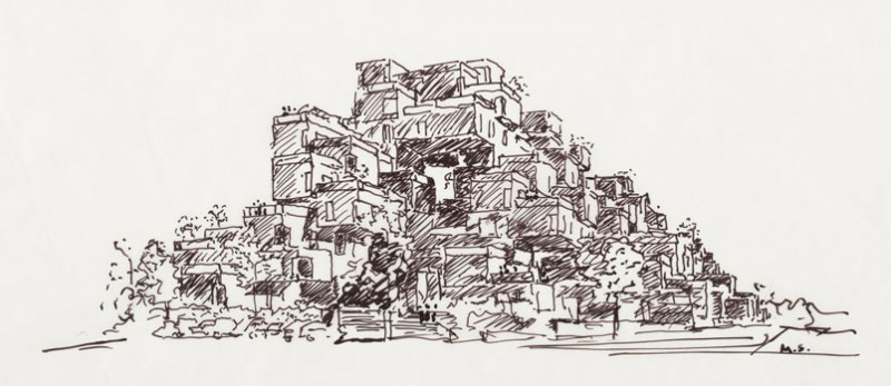 Habitat 67 drawing