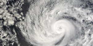Hurricane Cosme from space