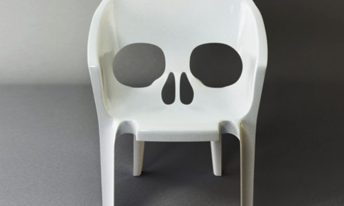 Skull shaped chair