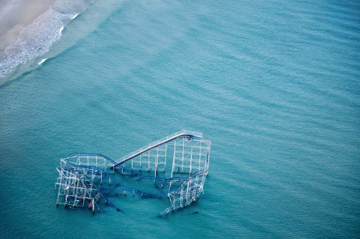 Rollercoaster submerged