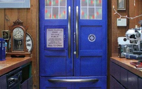 Fridge made up to look like the Tardis
