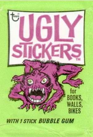 Green packet for Ugly Stickers trading cards