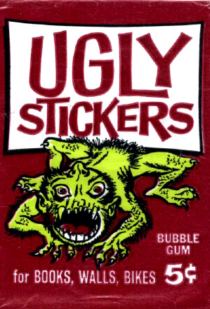 Red packet for Ugly Stickers trading cards