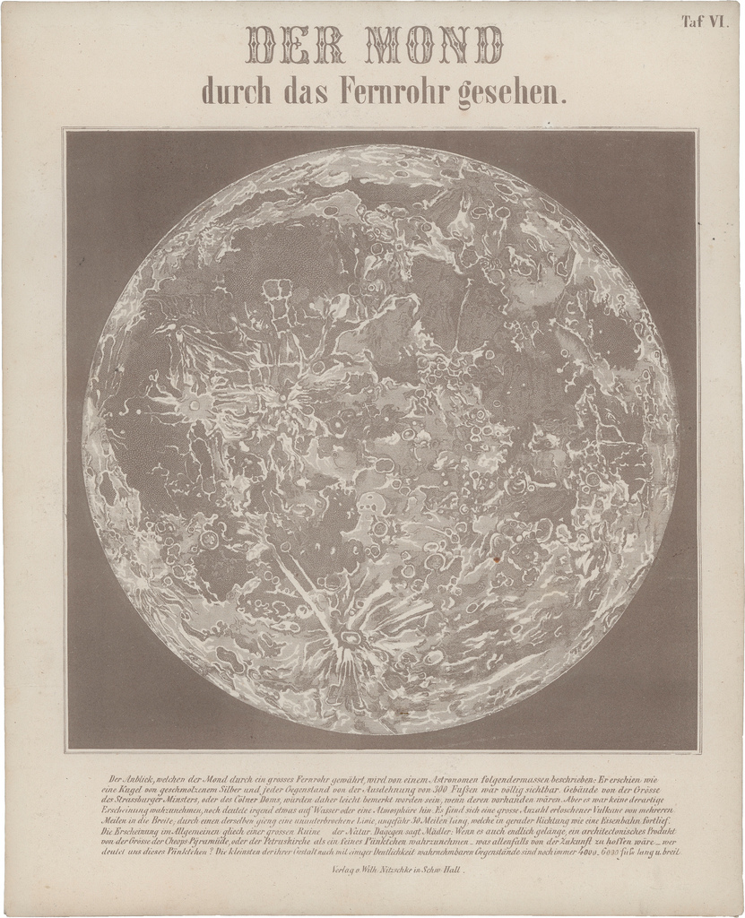 Illustration of the moon from Astronomic Picture Atlas