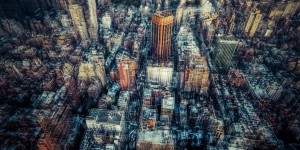 Colourful photograph of New York street by Laurent Dequick