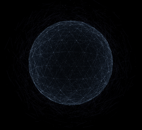 Geometric Wireframe Sphere