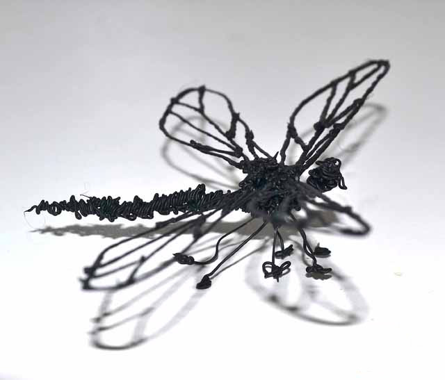 Dragonfly 3D drawing made by a 3Doodler