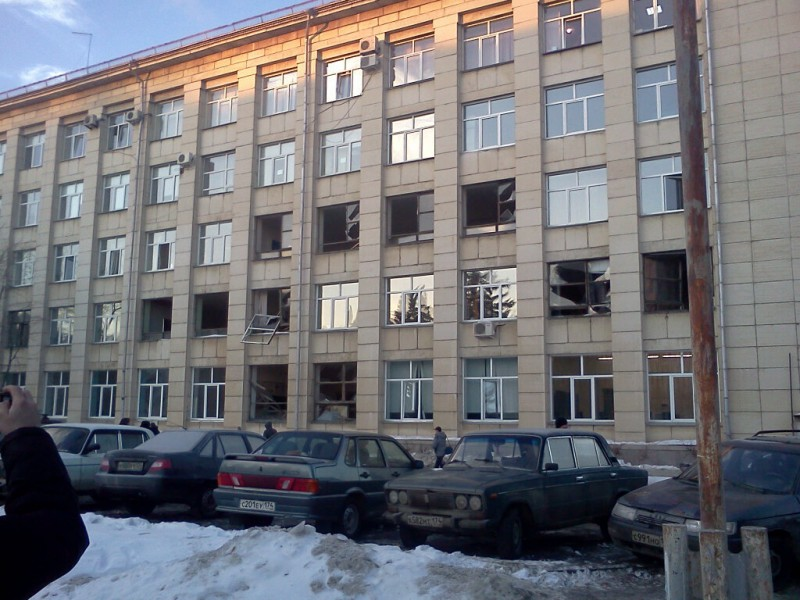 Windows blown out by the Russian meteorite