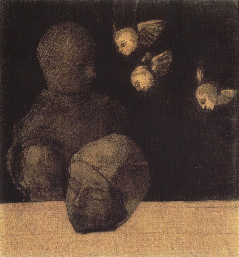 Painting called Severd Head by Odilon Redon, 1878