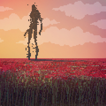 Animated pixel art