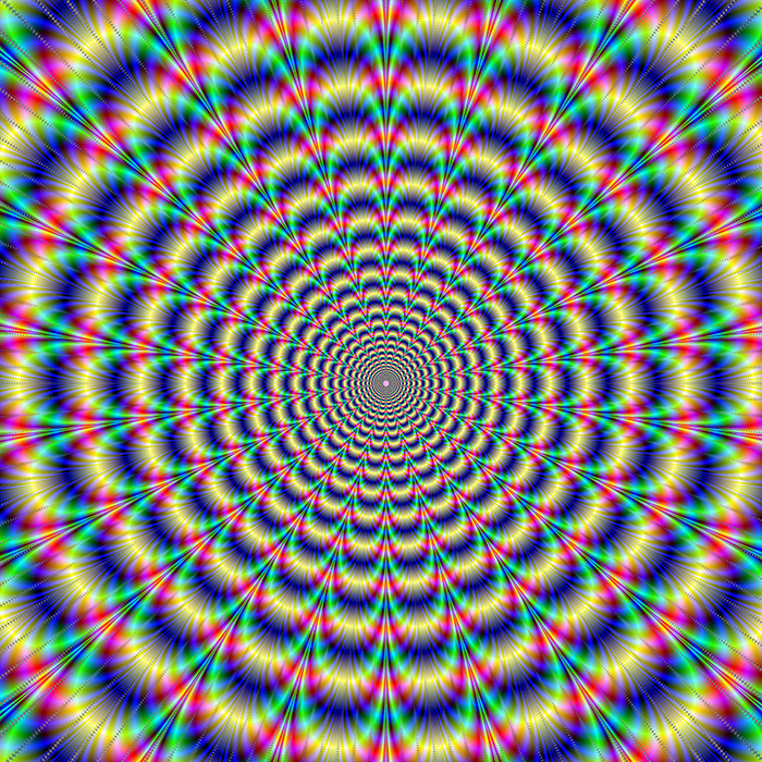 Psychedelic geometric tunnel illusion