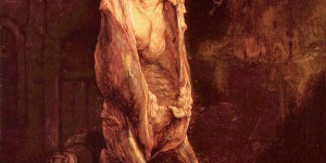 Carcass of Beef (Flayed Ox), 1655, Rembrandt van Rijn