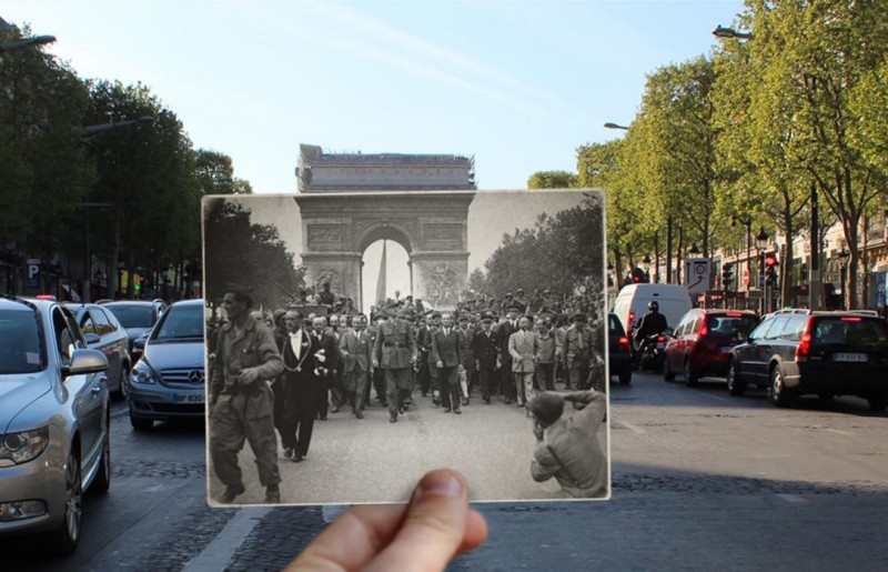 champs elysees photo overlay