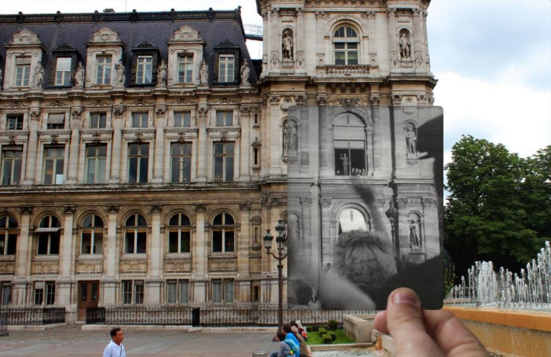 hotel de ville paris photo overlay