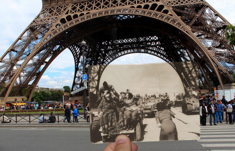 eiffel tower photo overlay