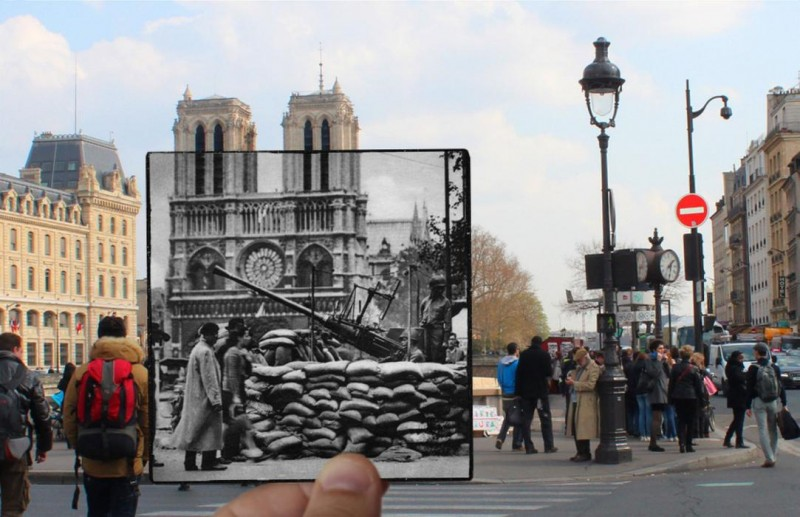notre dame paris photo overlay