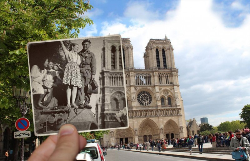notre dame photo overlay