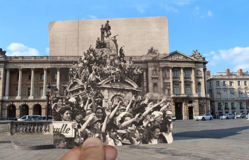 place de la concorde paris photo overlay