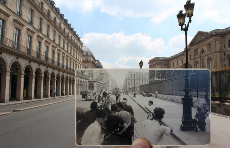 rue de rivoli paris photo overlay