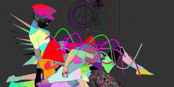Psychedelic pixellated lesbianism