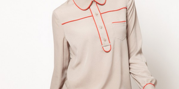 Blouse with an unintentionally phallic design