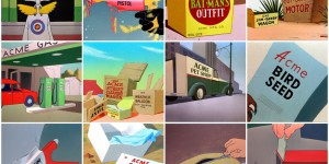 Various fictitious cartoon products from Acme