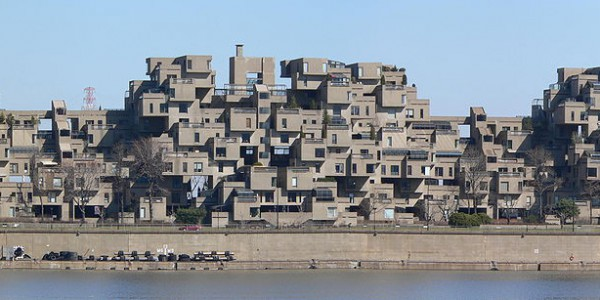 Panoramic view of Habitat 67