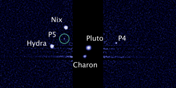 Pluto and its moon